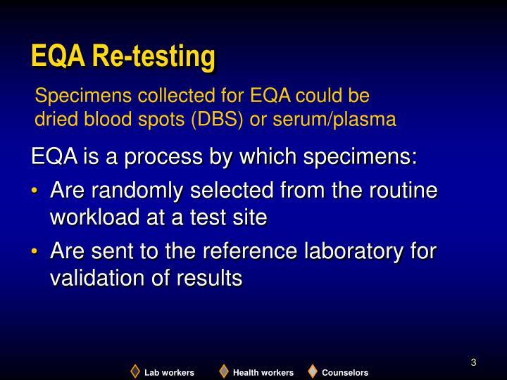EQA Re-testing