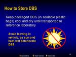 how to store dbs