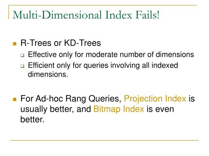 Multi-Dimensional Index Fails!