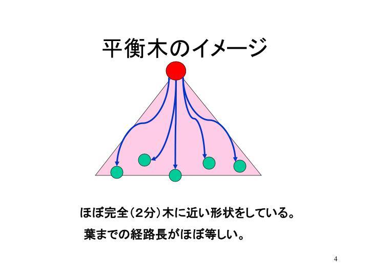 平衡木のイメージ