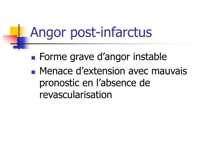 Angor post-infarctus