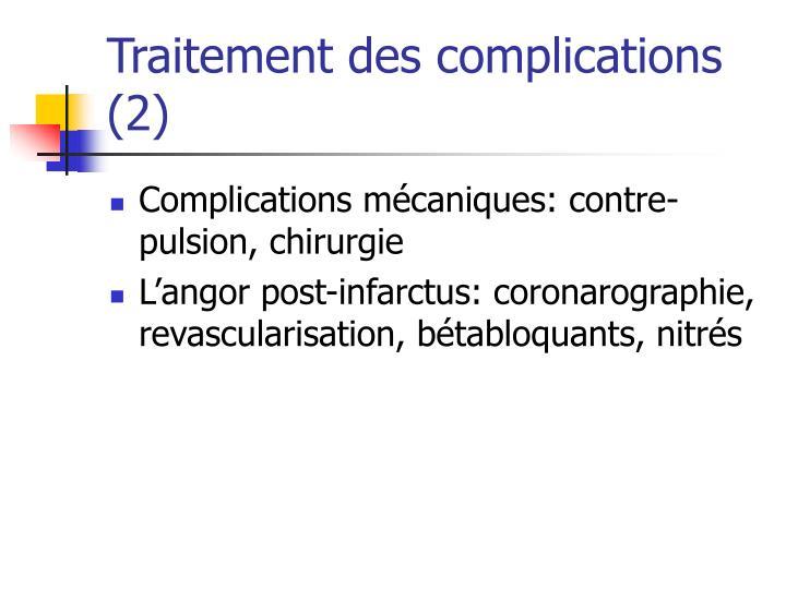 Traitement des complications (2)