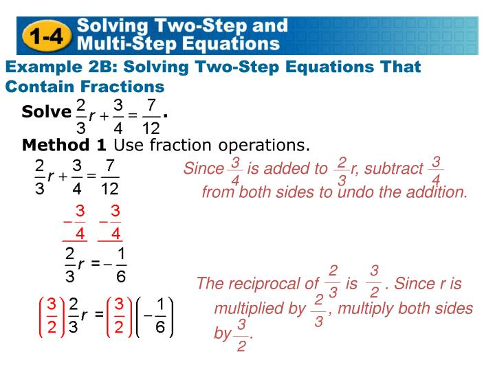 Since     is added to     r, subtract     from both sides to undo the addition.