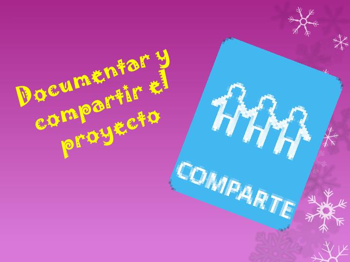 Documentar y compartir el proyecto