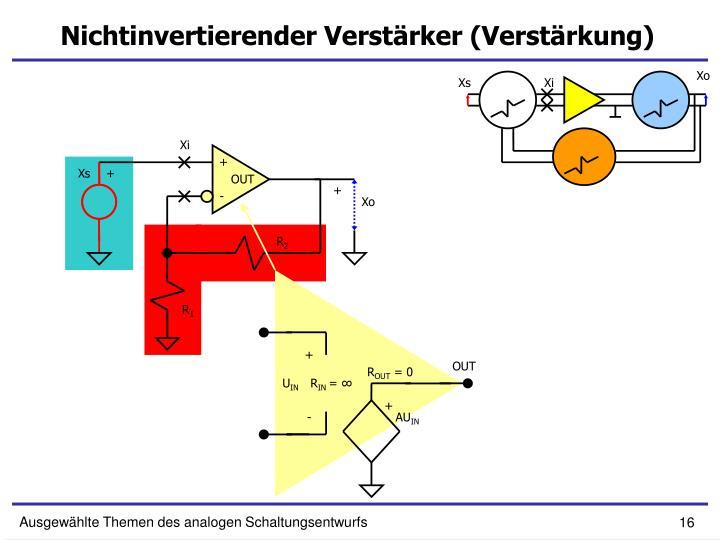 Nichtinvertierender Verstärker (Verstärkung)