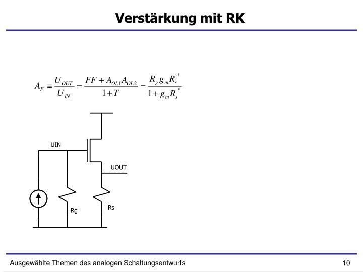 Verstärkung mit RK