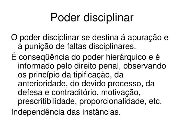 Poder disciplinar