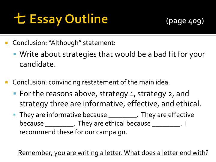 Essay outlining strategies