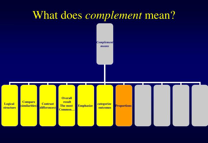 What does complement mean