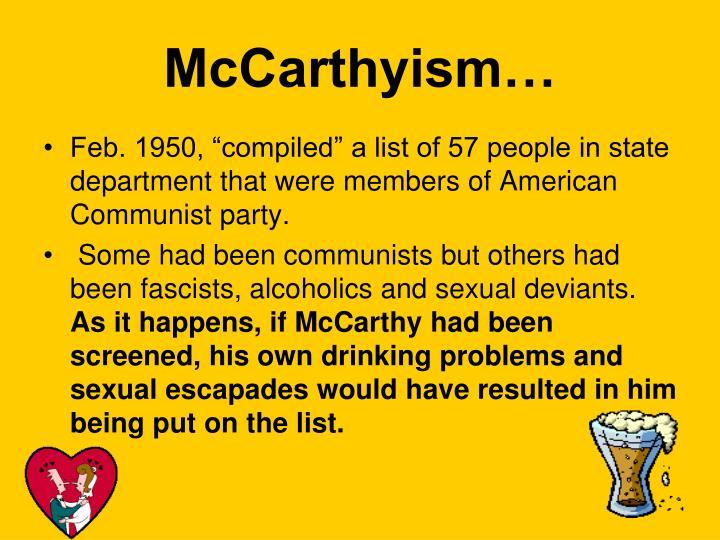McCarthyism…