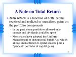 a note on total return