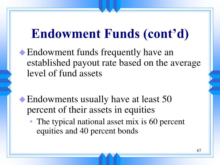 Endowment Funds (cont'd)