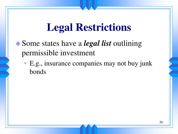 Legal Restrictions