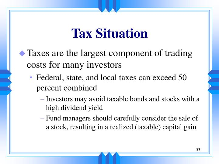 Tax Situation