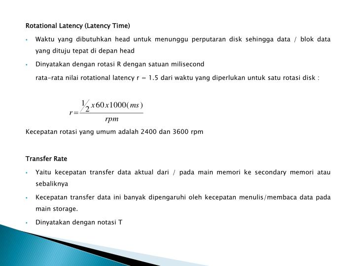 Rotational Latency (Latency Time)