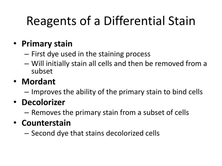 Reagents of a Differential Stain