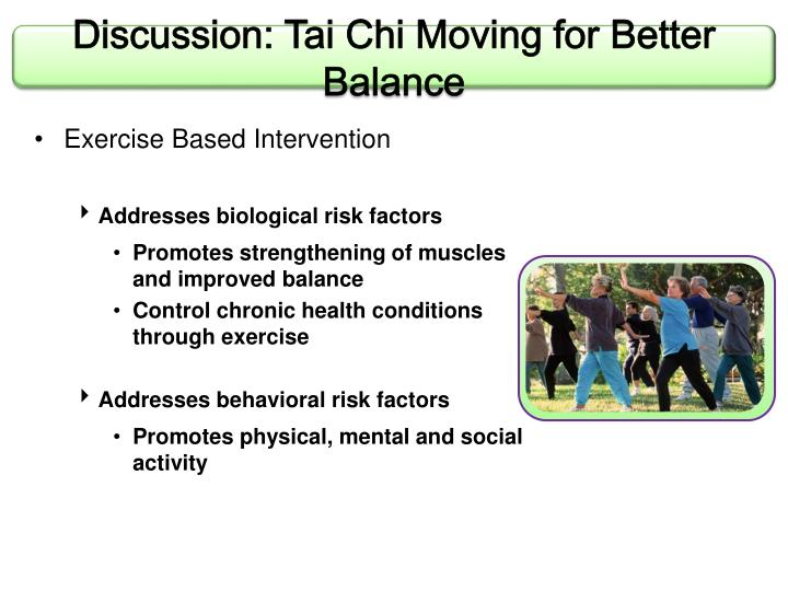Discussion: Tai Chi Moving for Better Balance