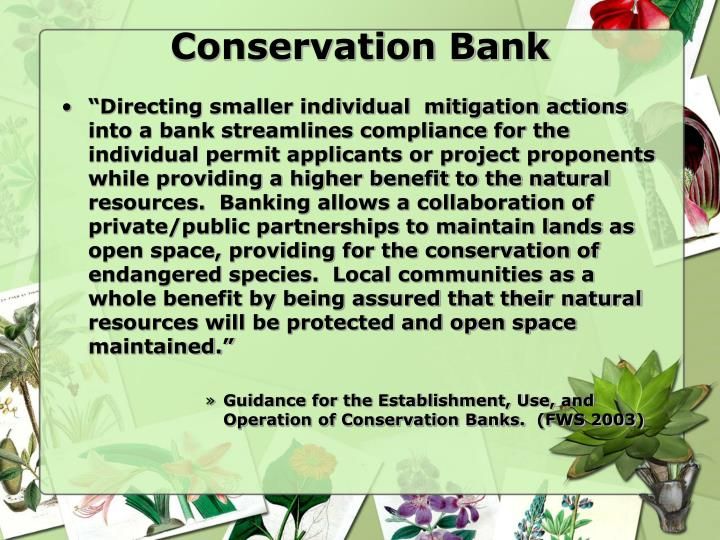 Conservation Bank