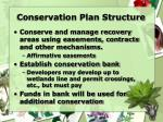conservation plan structure