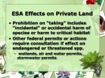 esa effects on private land