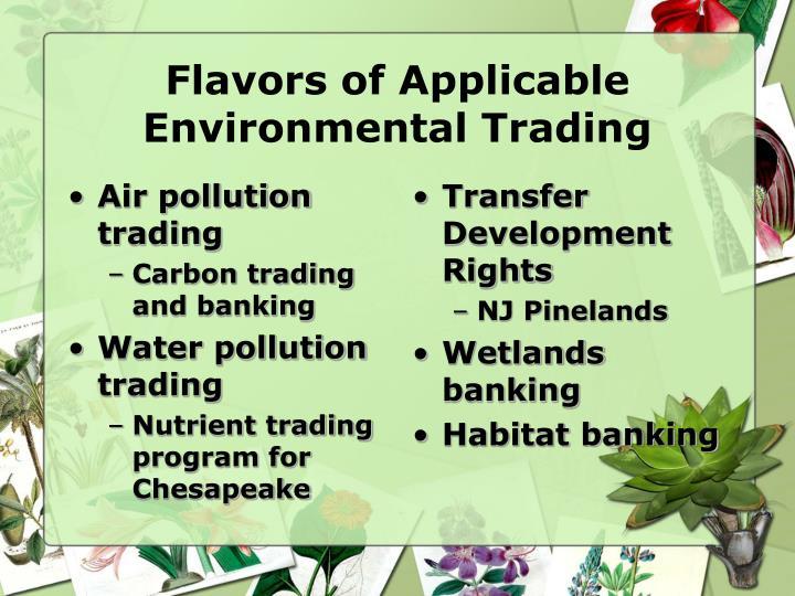 Air pollution trading