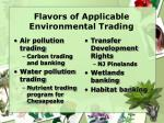 flavors of applicable environmental trading