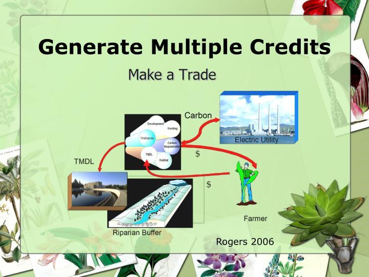 Generate Multiple Credits