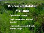 preferred habitat
