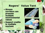 rogers value tent