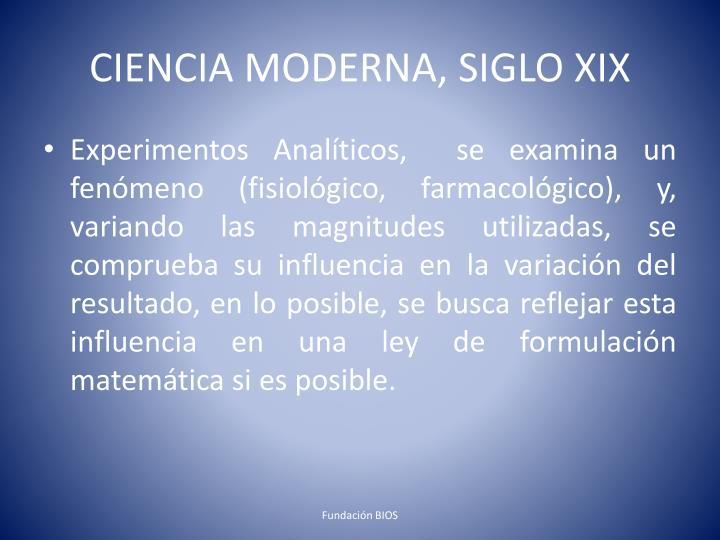 CIENCIA MODERNA, SIGLO XIX