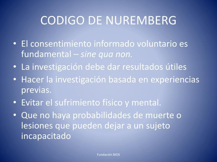 CODIGO DE NUREMBERG