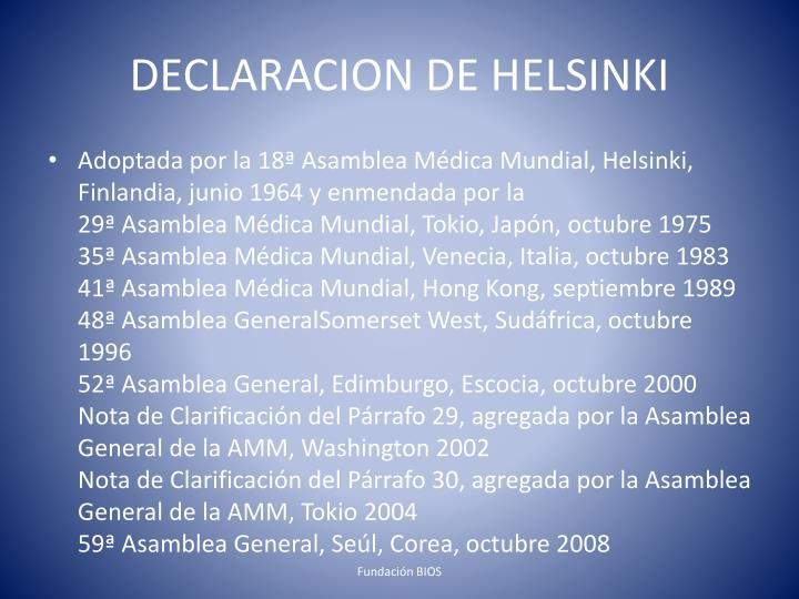 DECLARACION DE HELSINKI