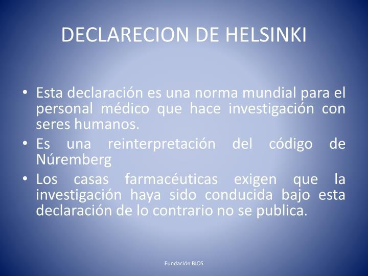 DECLARECION DE HELSINKI