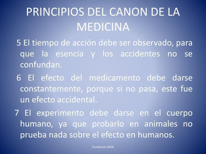 PRINCIPIOS DEL CANON DE LA MEDICINA