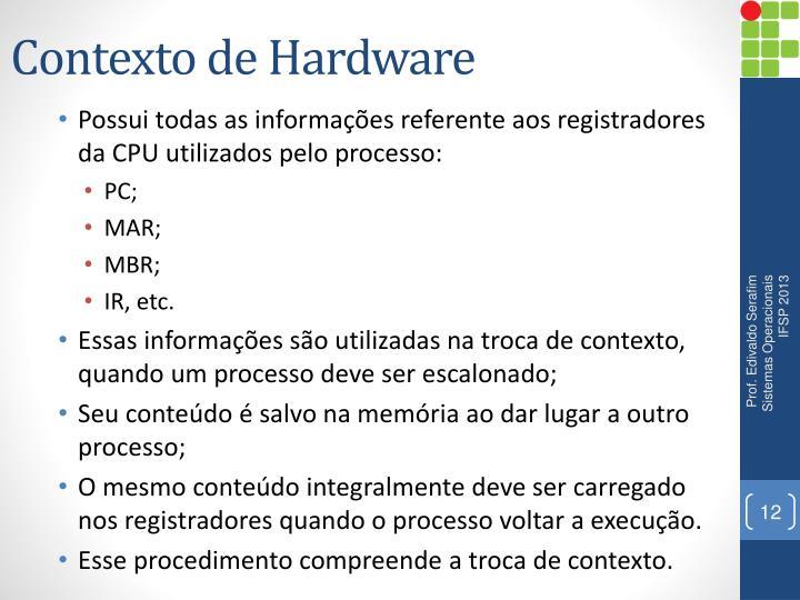Contexto de Hardware