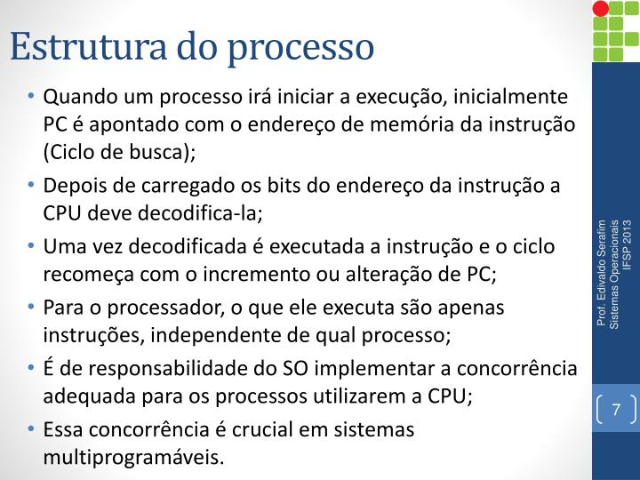 Estrutura do processo