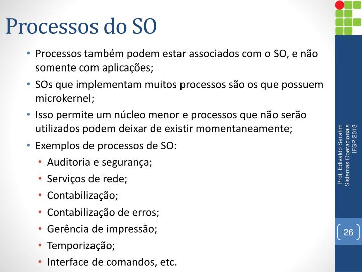 Processos do SO