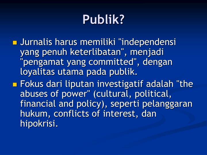 Publik?