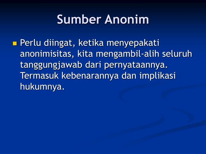 Sumber Anonim