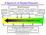 a spectrum of related research