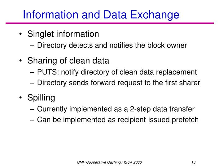Information and Data Exchange