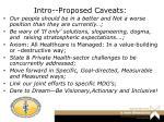 intro proposed caveats