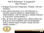 nhi nhsystem a suggested way forward
