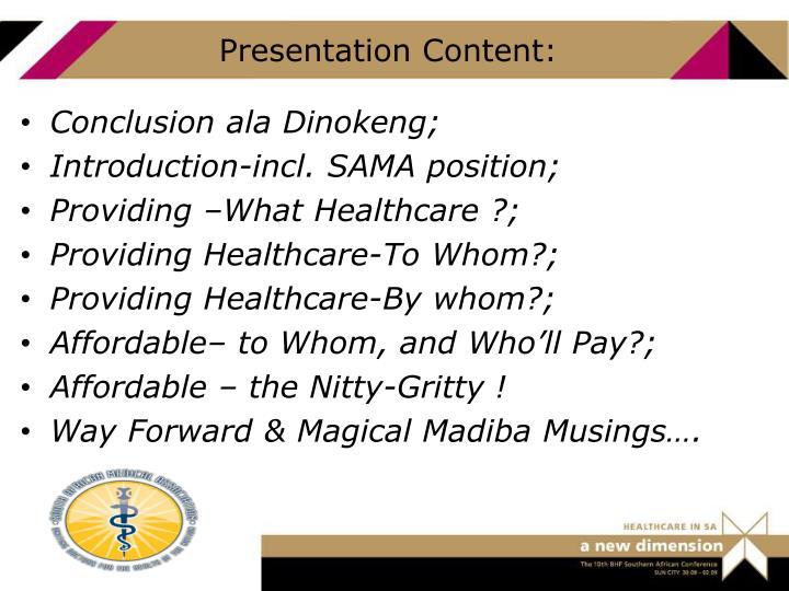 Presentation Content: