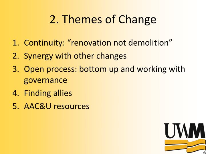 2. Themes of Change