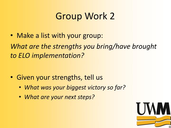 Group Work 2