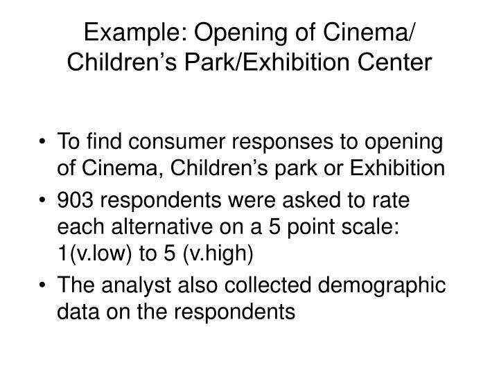 Example opening of cinema children s park exhibition center