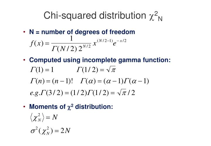 Chi squared distribution 2 n