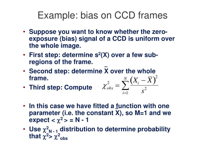 Example: bias on CCD frames