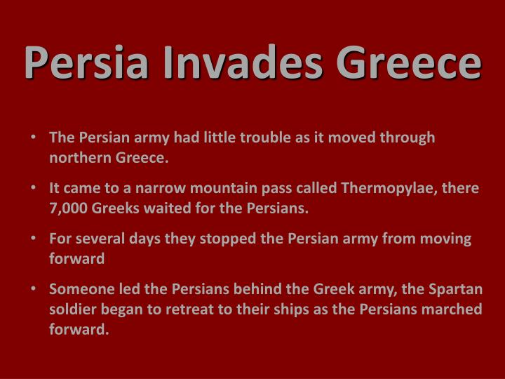 Persia Invades Greece